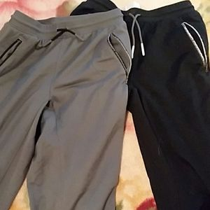 2 pair ylg under armour boys athletic pants